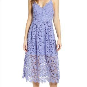 LIKE NEW- ASTR the Label Lace Midi Dress